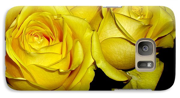 Galaxy Case featuring the photograph Yellow Roses by Fred Wilson