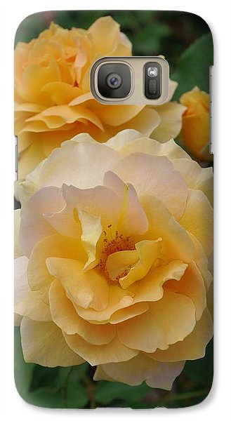Galaxy Case featuring the photograph Yellow Roses by Marilyn Wilson