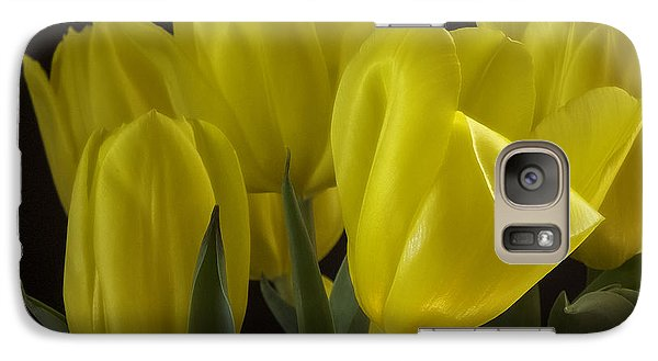 Galaxy Case featuring the photograph Yellow Silk by Lucinda Walter