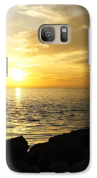 Galaxy Case featuring the photograph Yellow Sky by Laurie Perry