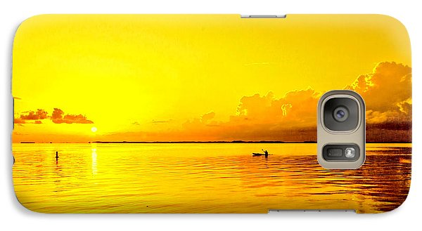 Galaxy Case featuring the photograph Yellow Sky Sunset by Lewis Mann