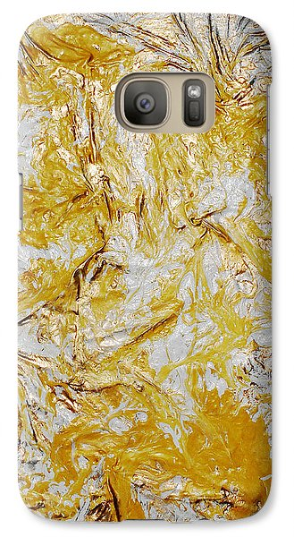Galaxy Case featuring the mixed media Yellow Sunshine by Angela Stout