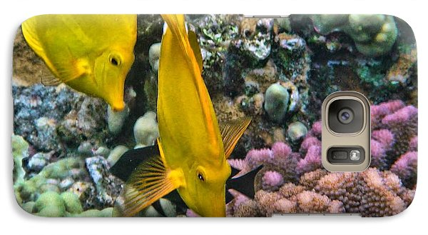 Yellow Tang Pair Galaxy S7 Case by Peggy Hughes