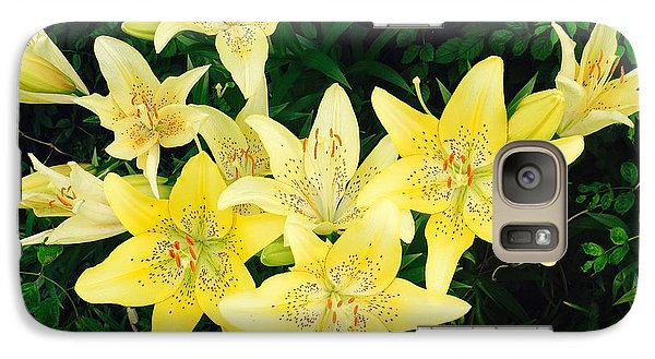 Galaxy Case featuring the photograph Yellow Tiger Lilies by Doug Kreuger