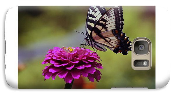Galaxy Case featuring the photograph Yellow Tiger Swallowtail Butterfly by Kay Novy
