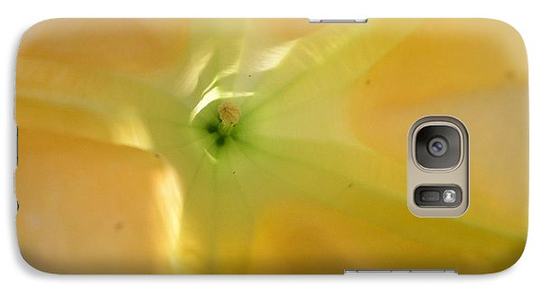 Galaxy Case featuring the photograph Yellow Translucent Flower by Bev Conover