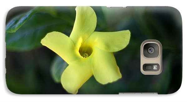 Galaxy Case featuring the photograph Yellow Trumpet Flower by Ramabhadran Thirupattur