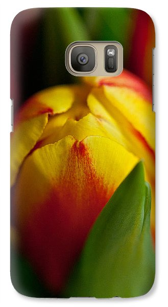 Galaxy Case featuring the photograph Yellow Tulip by Sabine Edrissi