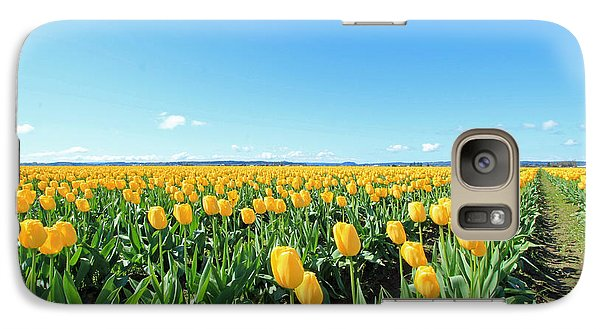 Galaxy Case featuring the photograph Yellow Tulips by E Faithe Lester