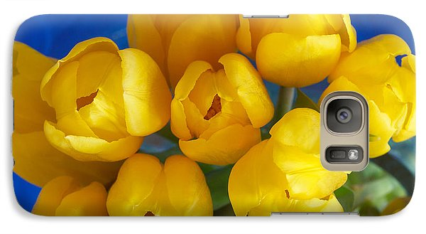 Galaxy Case featuring the photograph Yellow Tulips by Patricia Schaefer