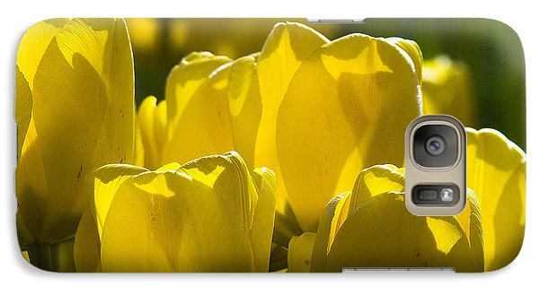 Galaxy Case featuring the photograph Yellow Tulips  by Yulia Kazansky