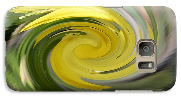 Galaxy Case featuring the digital art Yellow Whirlpool by Luther Fine Art