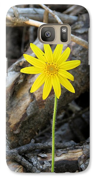 Galaxy Case featuring the photograph Yellow Wildflower by Laurel Powell