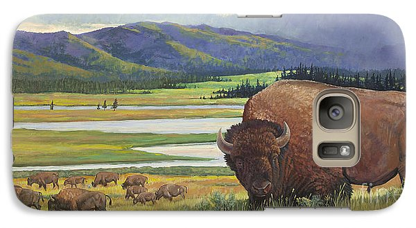 Galaxy Case featuring the painting Yellowstone Bison by Rob Corsetti