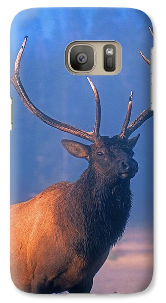 Galaxy Case featuring the photograph Yellowstone Bull Elk by Dennis Cox WorldViews