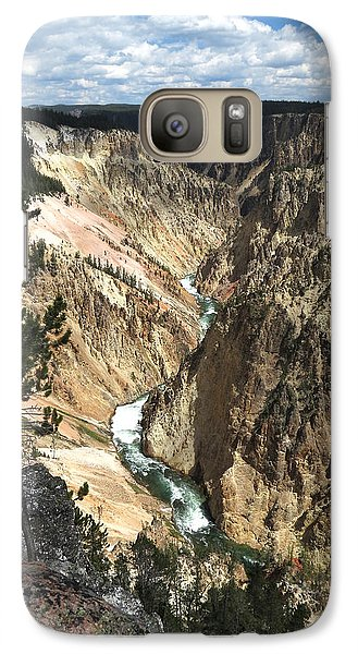 Galaxy Case featuring the photograph Yellowstone Canyon by Laurel Powell