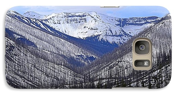 Galaxy Case featuring the photograph Yellowstone East Entrance Spring by Nadalyn Larsen