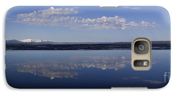 Galaxy Case featuring the photograph Yellowstone Lake Reflections by J L Woody Wooden