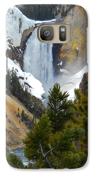 Galaxy Case featuring the photograph Yellowstone Lower Falls In Spring by Michele Myers