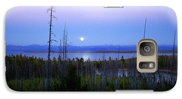 Galaxy Case featuring the photograph Yellowstone Moon by Ann Lauwers