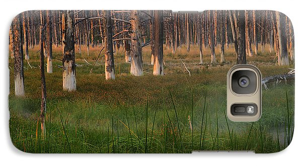 Galaxy Case featuring the photograph Yellowstone Mysterious Morning by Teresa Zieba