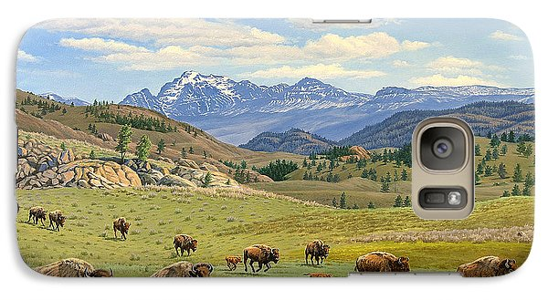 Buffalo Galaxy S7 Case - Yellowstone Spring by Paul Krapf