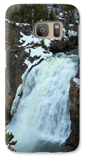 Galaxy Case featuring the photograph Yellowstone Upper Falls In Spring by Michele Myers