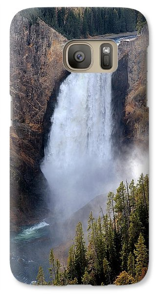 Galaxy Case featuring the photograph Lower Yellowstone Falls by Athena Mckinzie