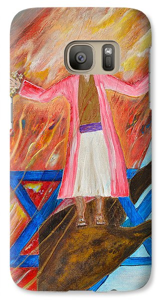 Galaxy Case featuring the painting Yeshua by Cassie Sears