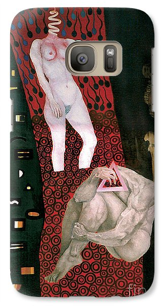 Galaxy Case featuring the painting Yin Yang Birth Death by Fei A