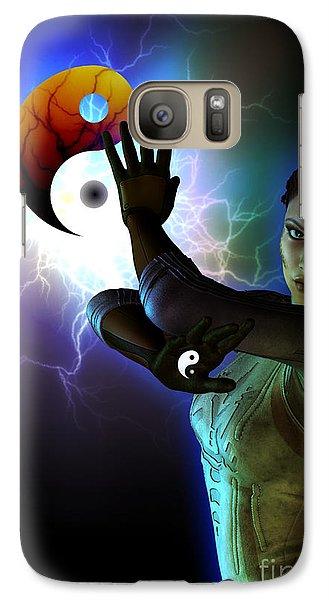 Galaxy Case featuring the digital art Yin Yang by Shadowlea Is