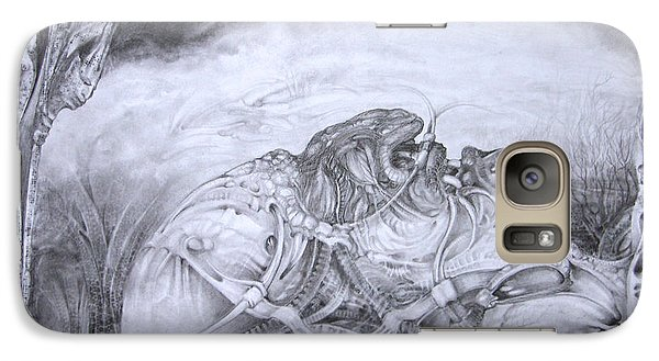 Galaxy Case featuring the drawing Ymir At Rest by Otto Rapp