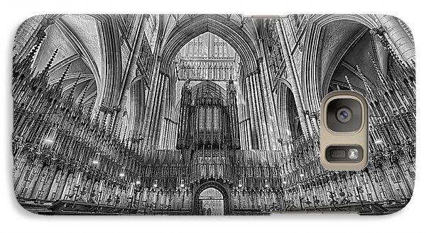 Galaxy Case featuring the photograph York Minster Duotone I by Jack Torcello