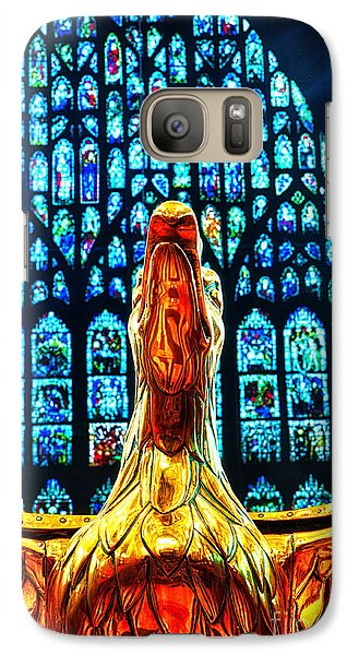 Galaxy Case featuring the photograph York Minster Gold Eagle by Jack Torcello