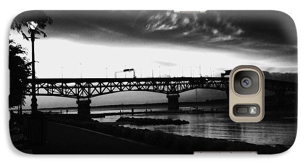 Galaxy Case featuring the photograph Yorktown Storm by Linda Mesibov