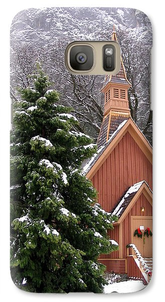Galaxy Case featuring the photograph Yosemite Chapel In Winter by Kevin Desrosiers