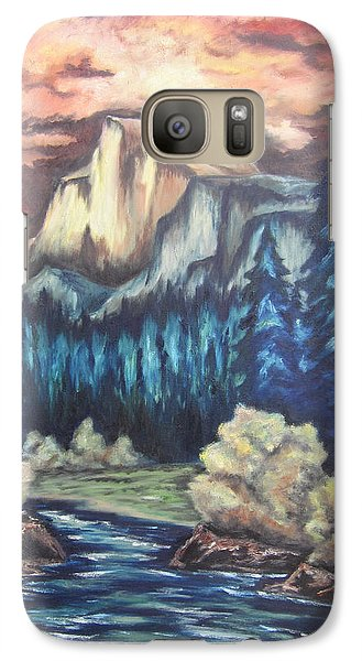 Galaxy Case featuring the painting Yosemite by Cheryl Pettigrew