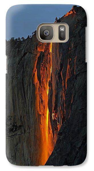 Galaxy Case featuring the photograph Yosemite Horsetail Falls by Duncan Selby