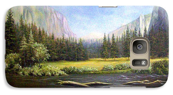 Galaxy Case featuring the painting Yosemite by Loxi Sibley