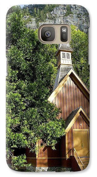 Galaxy Case featuring the photograph Yosemite Valley Chapel by Alex King