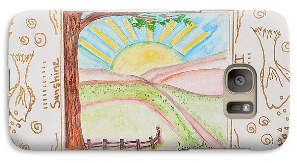 Galaxy Case featuring the painting You Are My Sunshine by Cassie Sears