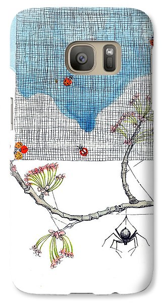 Galaxy Case featuring the painting You Are Special by Katherine Miller