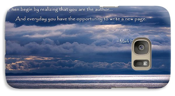 Galaxy Case featuring the photograph You Are The Author by Jordan Blackstone