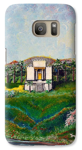 Galaxy Case featuring the painting You Are The Temple Of God by Cassie Sears