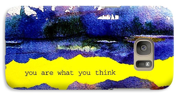 Galaxy Case featuring the painting You Are What You Think Collage 2 by Bob Baker