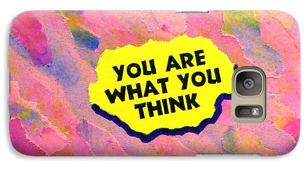 Galaxy Case featuring the painting You Are What You Think Collage by Bob Baker