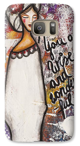 Galaxy Case featuring the mixed media You Are Wise And Wonderful by Stanka Vukelic