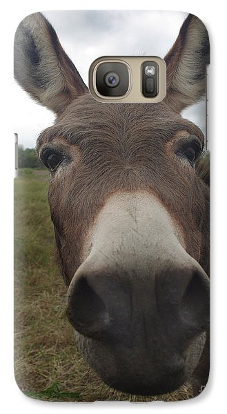 Galaxy Case featuring the photograph You Looking At My Woman by Peter Piatt