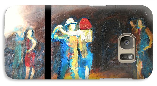 Galaxy Case featuring the painting You Shine  Diptych by Keith Thue