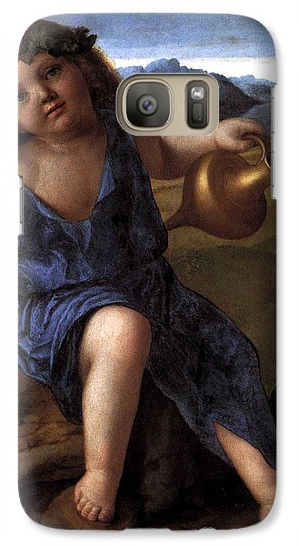 Galaxy Case featuring the painting Young Bacchus Dionysus Giovanni Bellini 1514 by Karon Melillo DeVega